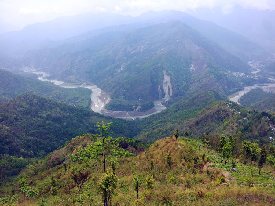 Kalimpong - View of river from road down - mountain holiday destinations in India