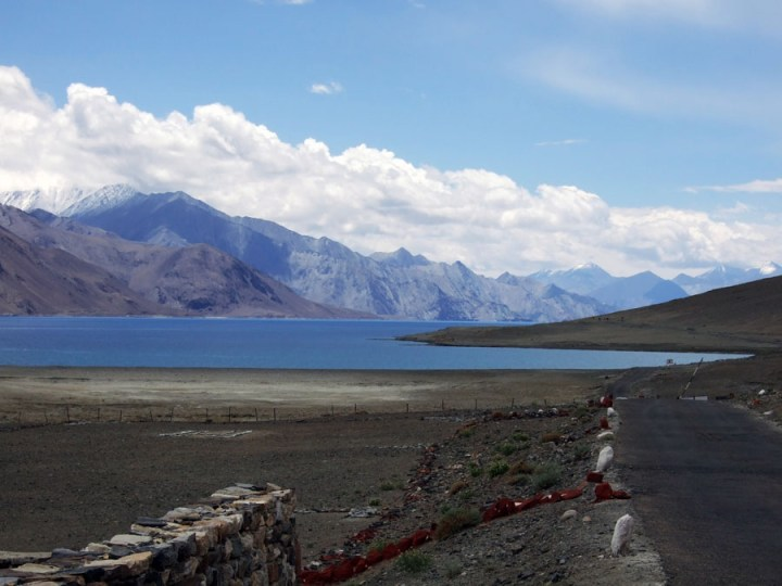 Ladakh - First view of Pangongtso - mountain holiday destinations in India