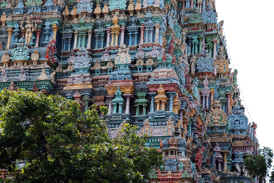 Madurai - North gopuram - Temples of Madurai and Thanjavur