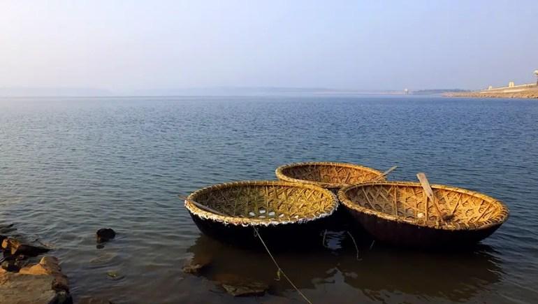 Coracle boats, Nagarjuna Sagar, Telangana, India