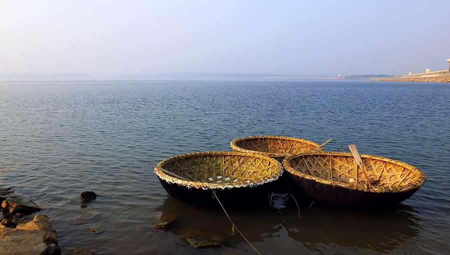 Great road trips from Hyderabad - Coracle boats, Nagarjuna Sagar, Telangana, India