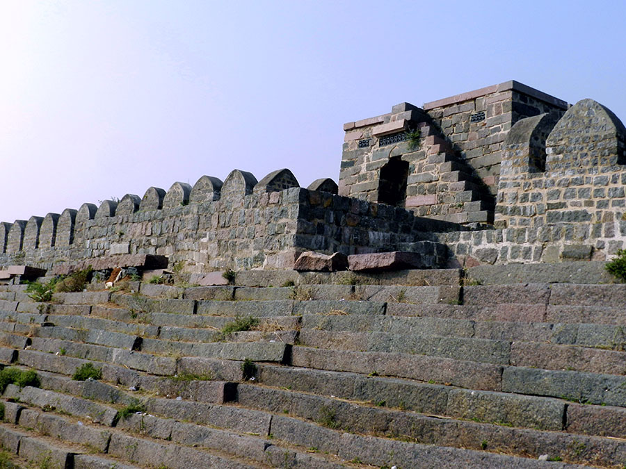 The ramparts of Warangal fort, Warangal, Telangana, India