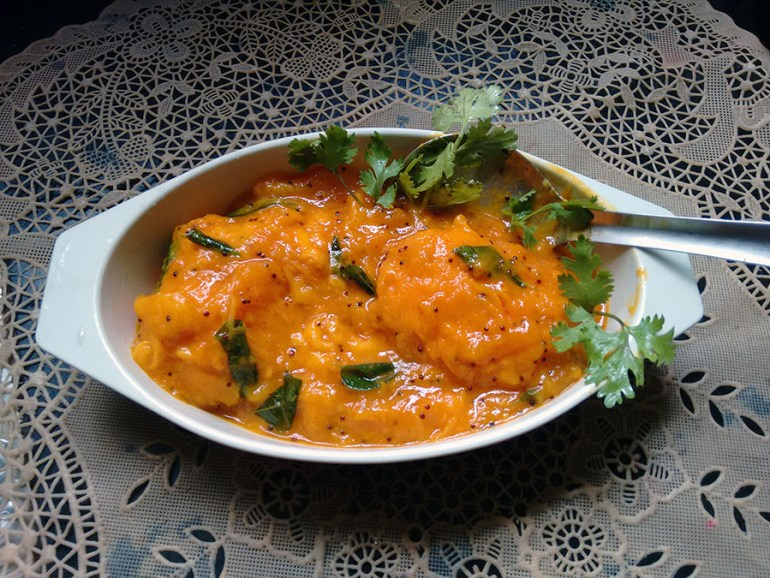 Menaskai - spice sweet and sour curry - Mangalore, Karnataka - vegetarian dishes from India