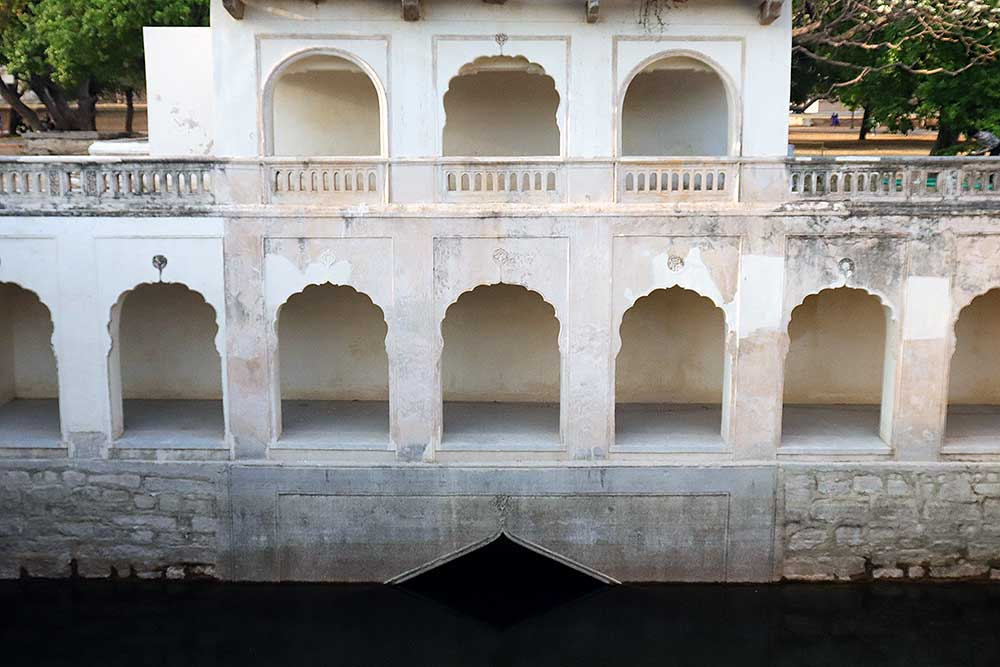 badi baoli step well at qutb shahi tombs, hyderabad, india