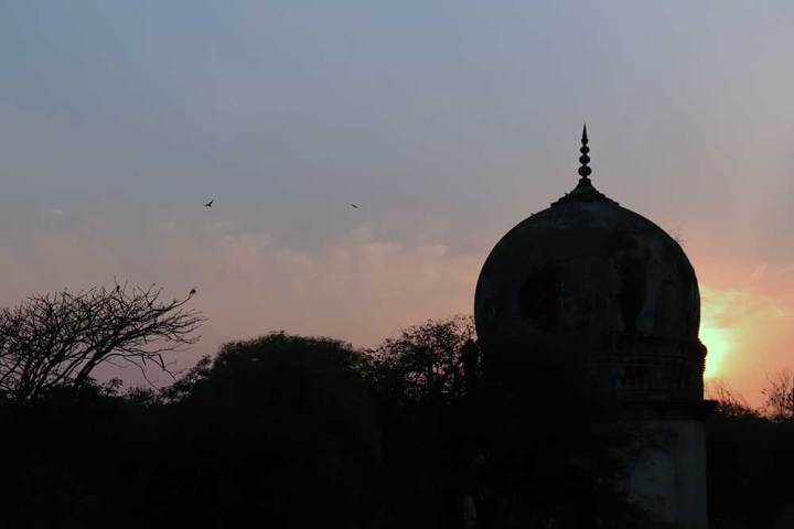 The vast necropolis of Hyderabad's Qutb Shahi kings, also called the 'seven tombs'
