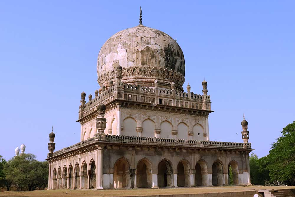tomb of abdullah qutb shah, qutb shahi tombs, hyderabad, india