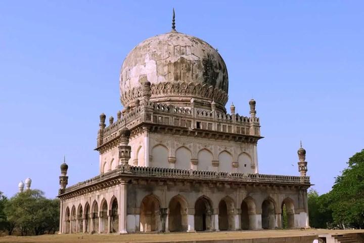 tomb of abdullah qutb shah, qutb shahi tombs, hyderabad, india