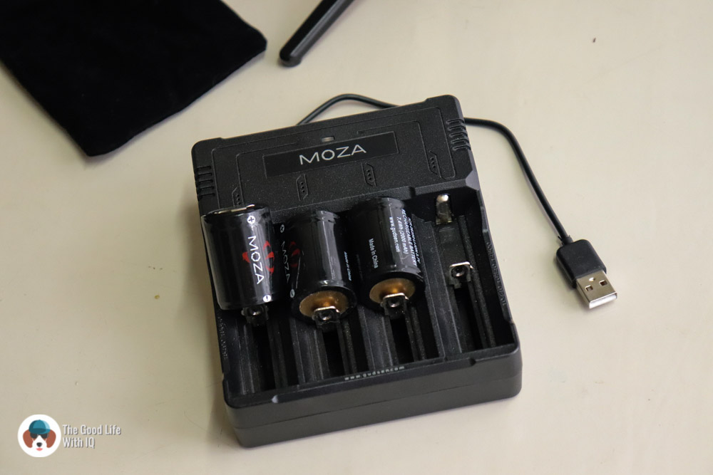 Moza AirCross charger and batteries