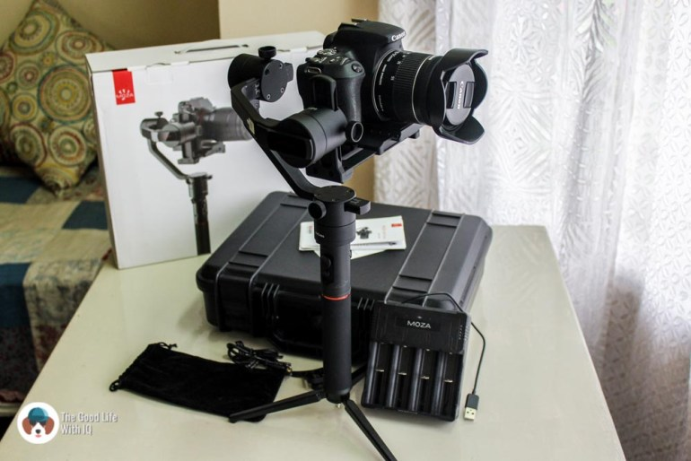 Full kit - Review: Moza AirCross 3-axis gimbal camera stabilizer