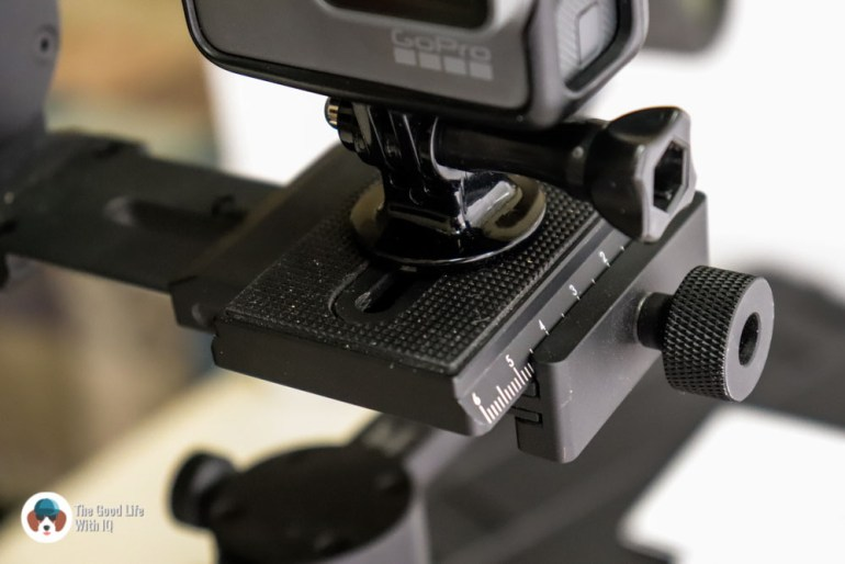 Quick-release place and GoPro - Review: Moza AirCross 3-axis gimbal camera stabilizer