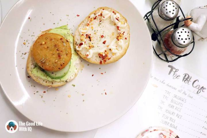 potato burger - The Pet Café: Hyderabad's new pawty hotspot