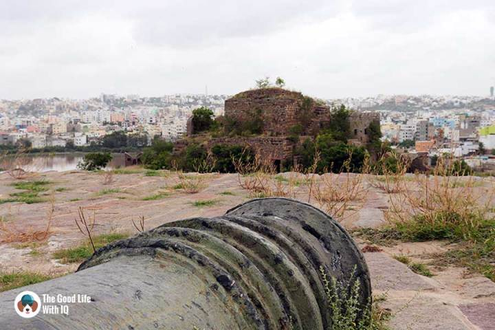 Naya qila cannon close-up - Things to do on the weekend in Hyderabad: The outer ramparts of Golconda Fort