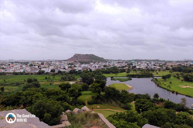 View of Bala Hissar Hill from Naya qila - Things to do on the weekend in Hyderabad: The outer ramparts of Golconda Fort
