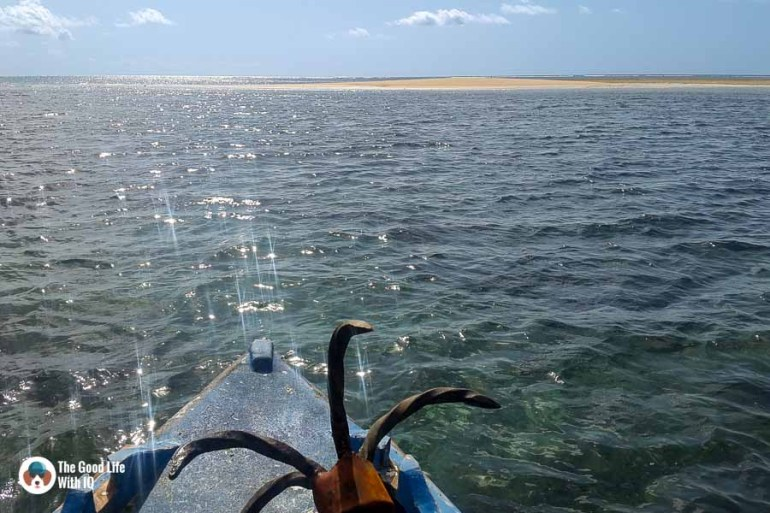 Sun reflected on water - malindi marine national park