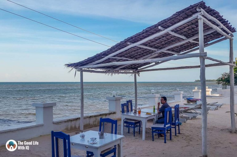 Beach view at Blanco restarurant in Malindi