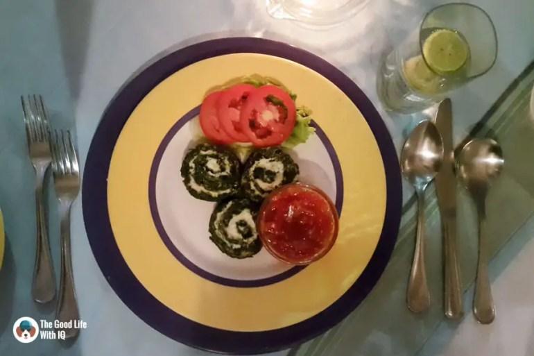 Spinach dinner in Malindi