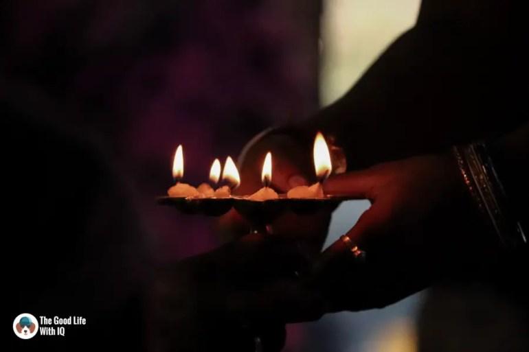 Sacred oil lamp - Durga Puja 2018