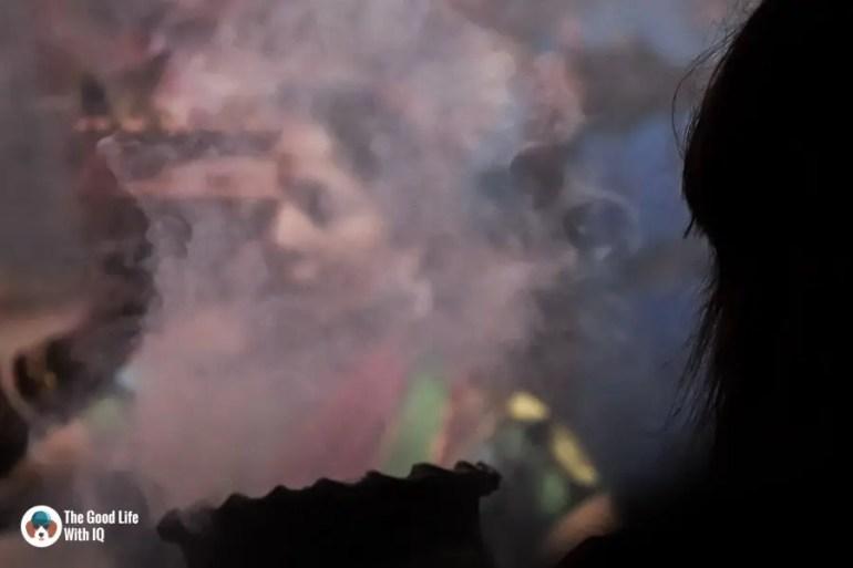 Ladies and incense - Durga Puja 2018