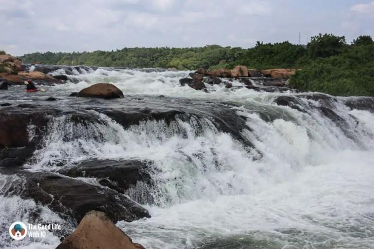 Steep river rapids, Jinja, Uganda