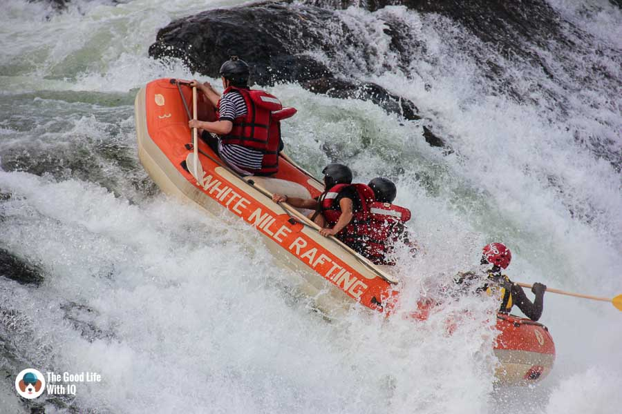 An adrenaline rush on the White Nile in Jinja
