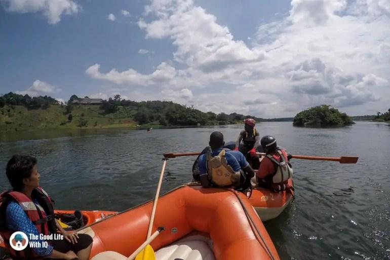 Rafts on the river, Jinja, Uganda