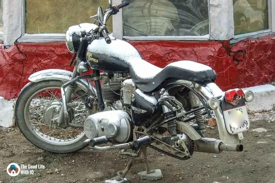 Snowed in bike - Motorcycle touring tips
