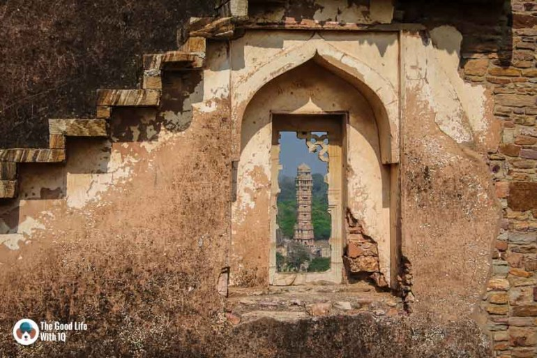 View of Vijay Stambh - Chittorgarh