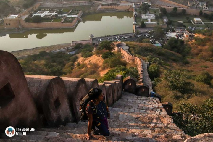 Rampart stairs, Amer, Jaipur