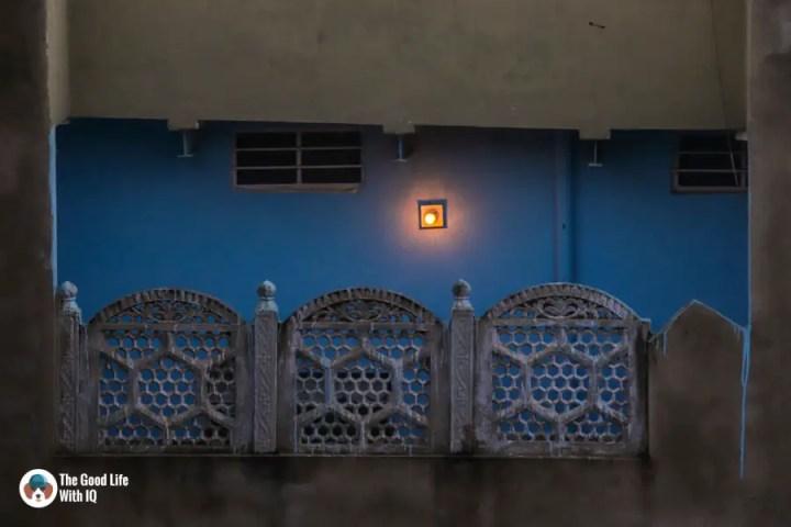Bulb on blue wall - Sawai Madhop