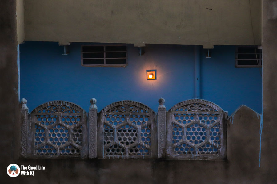 Bulb on blue wall - Sawai Madhop