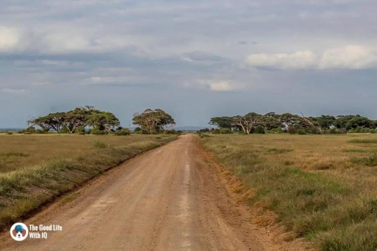 Kenya safari - Amboseli - Park track