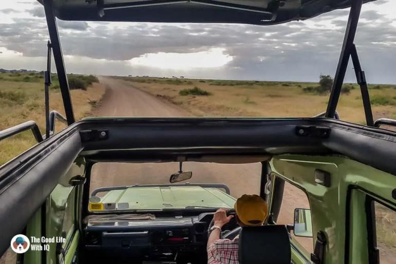 Kenya safari - Amboseli - View from Land Cruiser