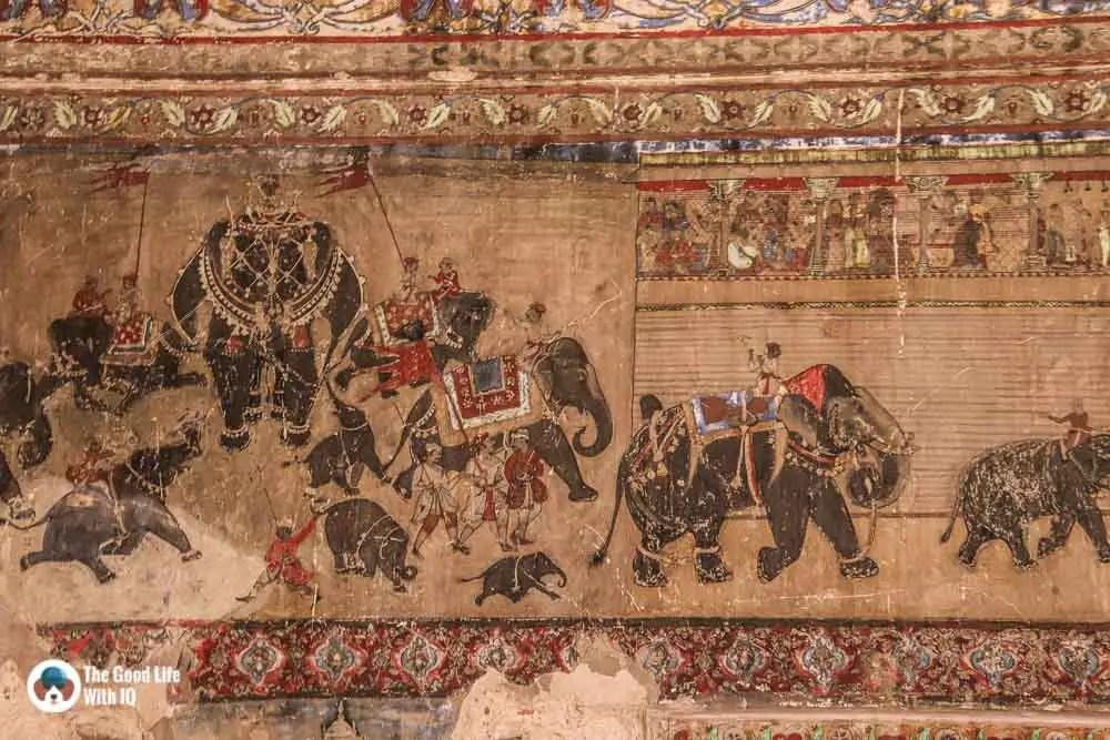 Elephant mural, Chitrashala, Garh Palace, Bundi