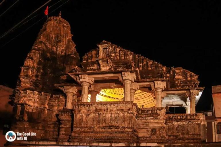 Temple at night, Bundi