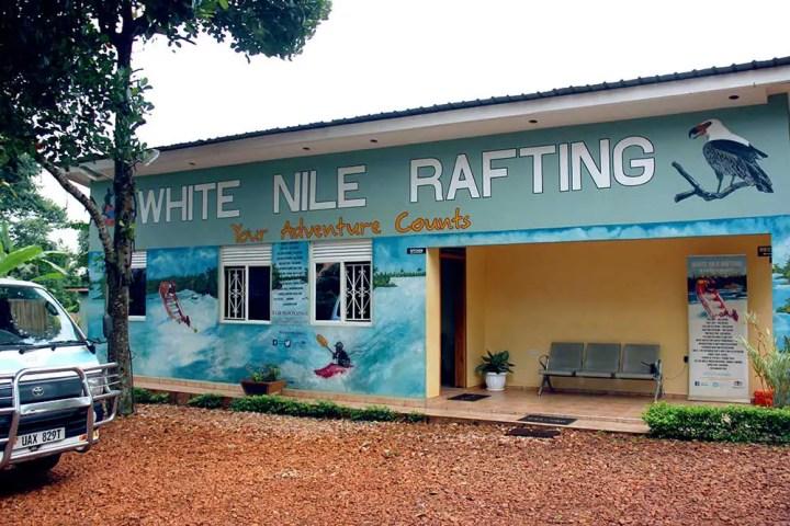 Matatu outside White Nile office, Jinja