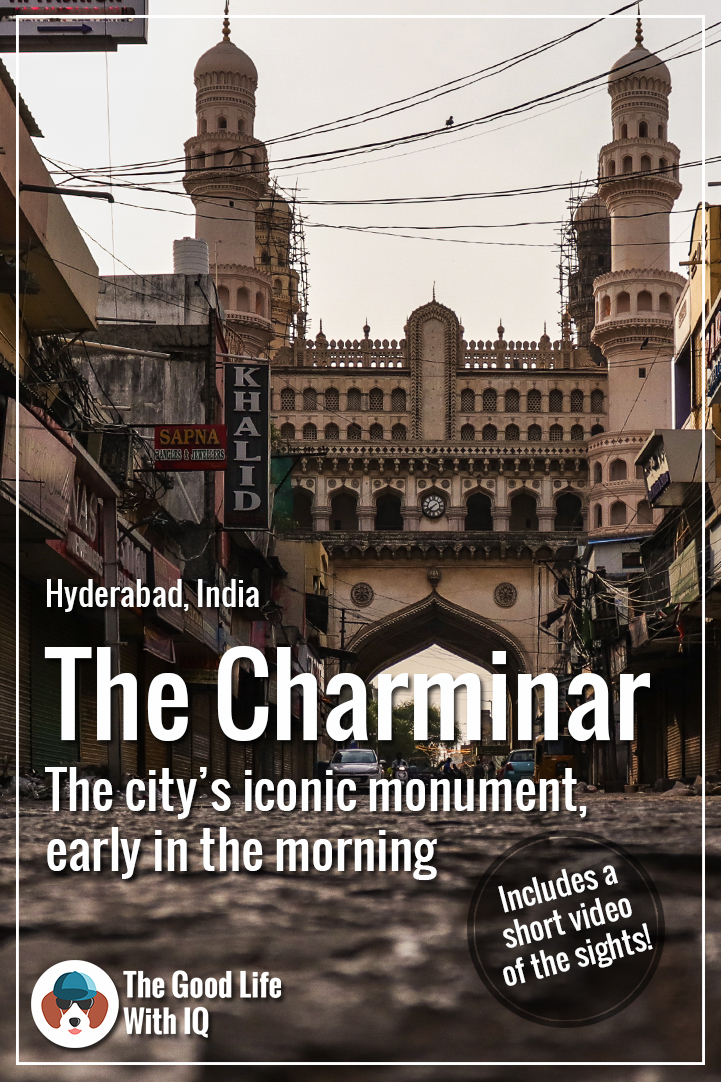 Pinterest thumbnail - the best time to visit Charminar - in the morning
