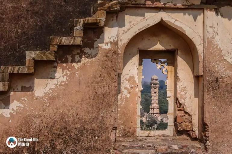 Chittorgarh Fort - Vijay Stambh seen from Fatta Haveli