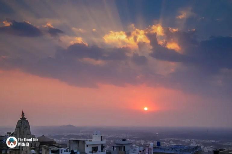 Chittorgarh Fort - Sunset view from Padmini Haveli