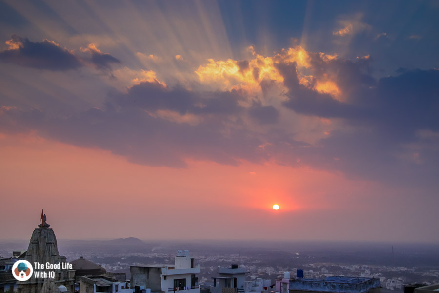Chittorgarh Fort - Sunset view from Padmini Haveli - Nice places to stay