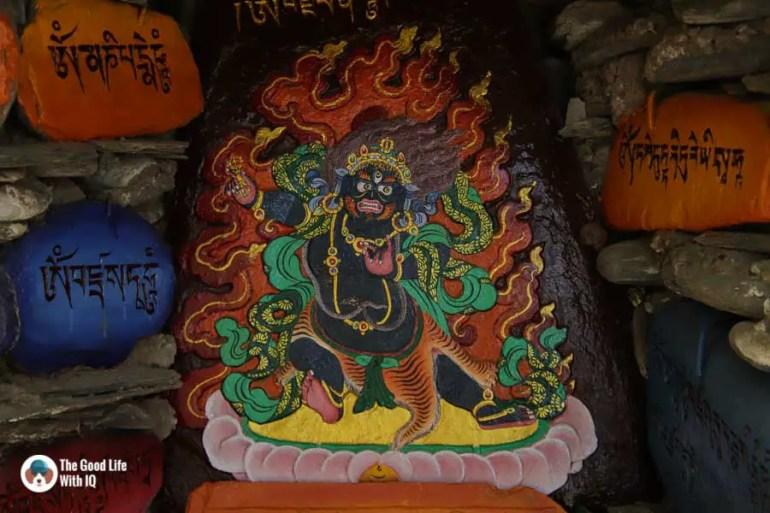 Buddhist deity in Norbulingka, Dharamshala