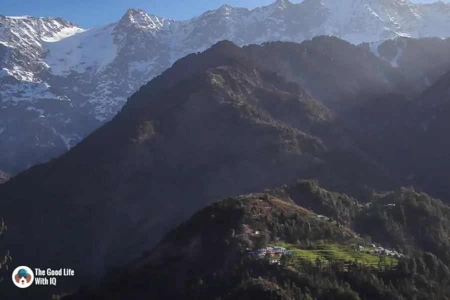 Mountain village, Udechee Huts, Naddi, McLeodGanj, Dharamshala