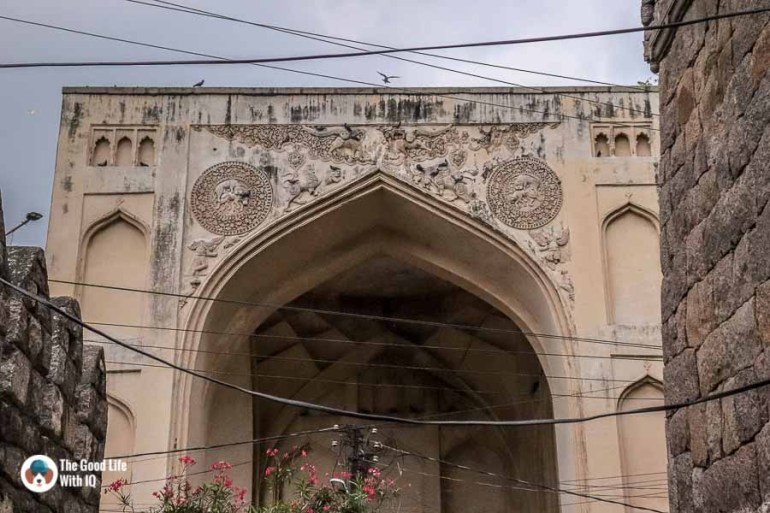 Abyssinian arch in front of Bala Hisar