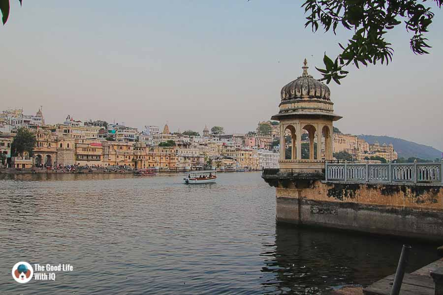Hanuman Ghat temple lake shore, Udaipur