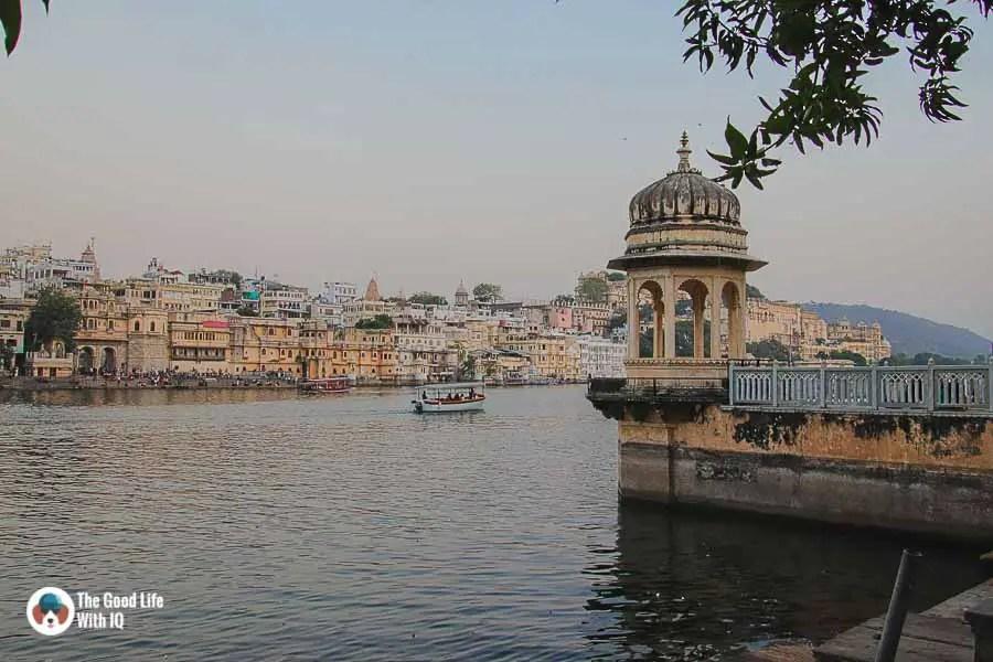 Hanuman Ghat temple lake shore, Udaipur