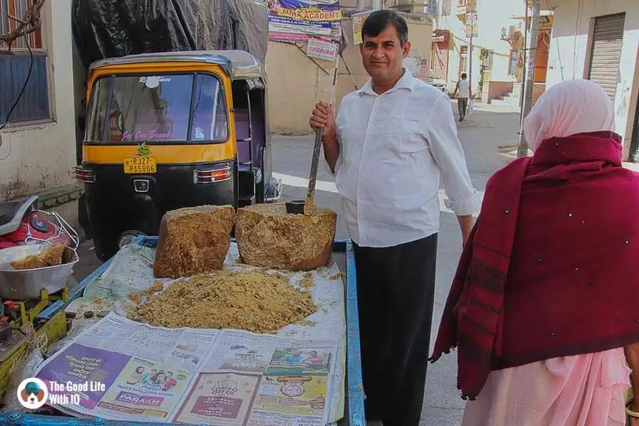 Jaggery vendor, Udaipur
