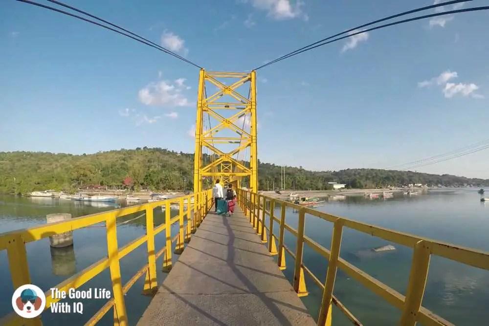 Yellow bridge between Lembongan and Ceningan, Bali