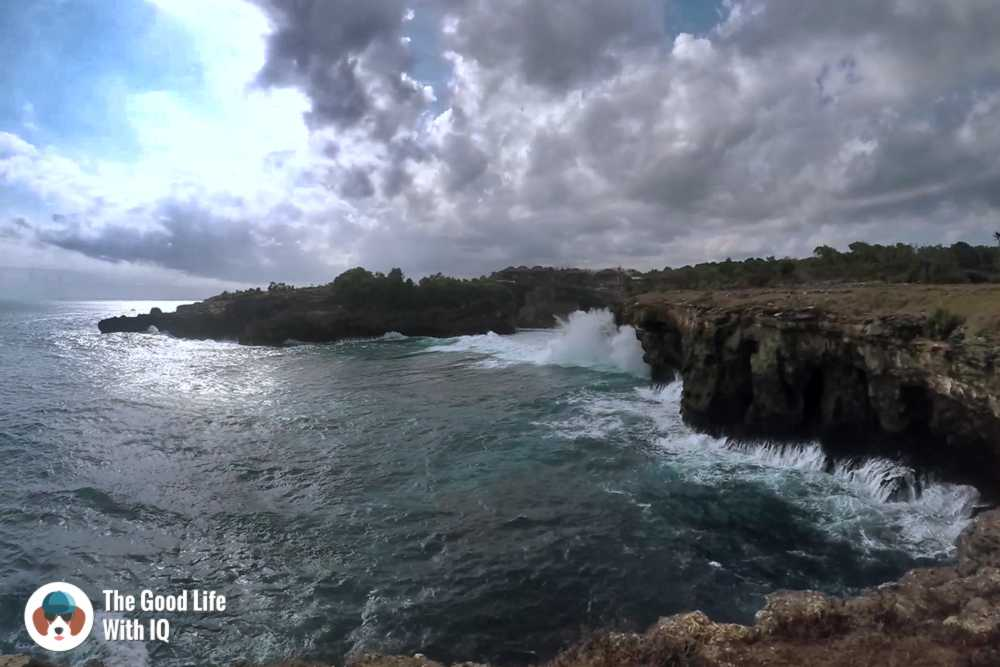 Cliffs at Old Tree, Ceningan, Bali