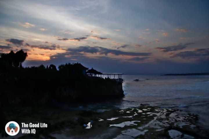 Sunset view of Mahana Point from Secret Point Huts, Ceningan, Bali