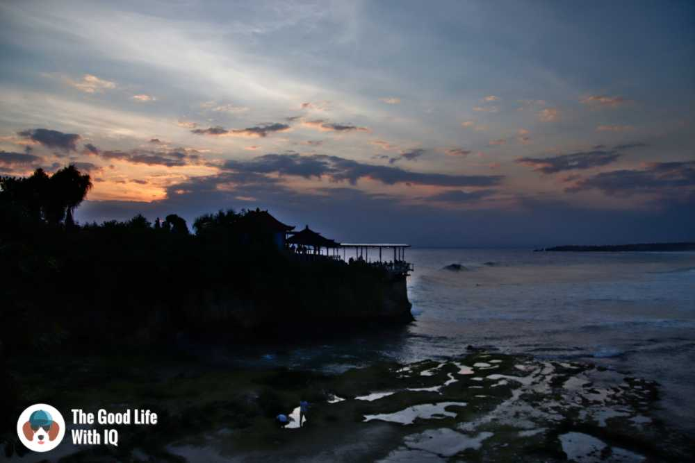 Sunset view of Mahana Point from Secret Point Huts, Ceningan, Bali