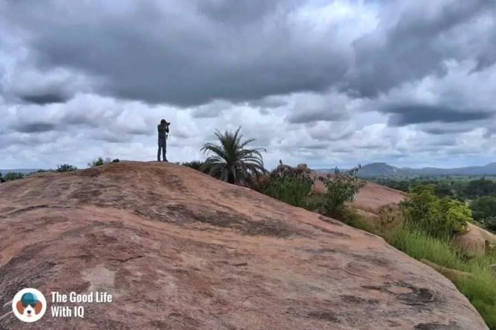 Granite rocks - Day trip to Lepakshi
